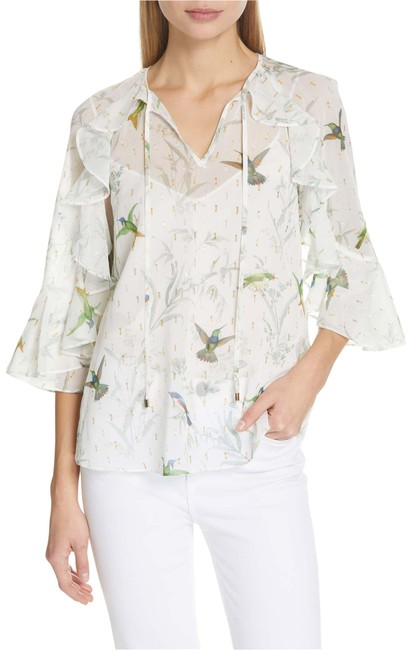 Preload https://img-static.tradesy.com/item/26155716/ted-baker-white-floral-hummingbirds-new-fortune-lassii-frilly-gold-sparkle-0-us-blouse-size-2-xs-0-1-650-650.jpg