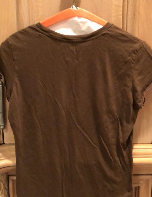A|X Armani Exchange T Shirt brown with tan and rose detail Image 1
