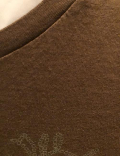 A|X Armani Exchange T Shirt brown with tan and rose detail Image 4