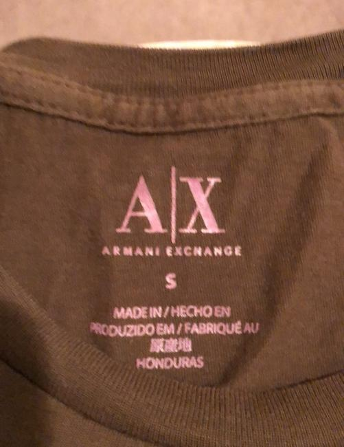 A|X Armani Exchange T Shirt brown with tan and rose detail Image 6