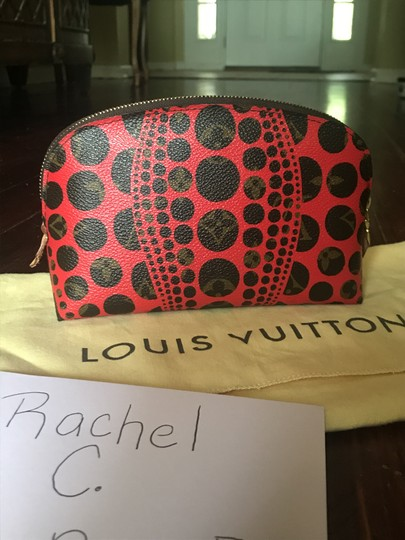 Louis Vuitton Brand New Louis Vuitton RARE Limited Edition Red Kusama Cosmetic Pouch Image 11