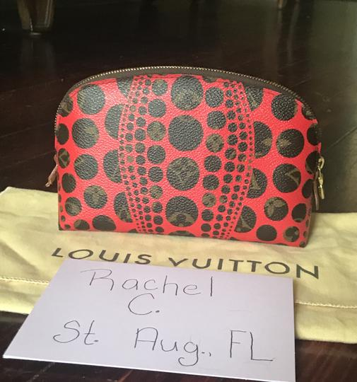 Louis Vuitton Brand New Louis Vuitton RARE Limited Edition Red Kusama Cosmetic Pouch Image 3