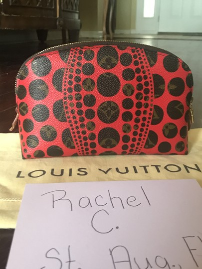 Louis Vuitton Brand New Louis Vuitton RARE Limited Edition Red Kusama Cosmetic Pouch Image 6