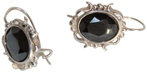 Unbranded Radiant Solid Sterling Silver Faceted Hematite Earrings