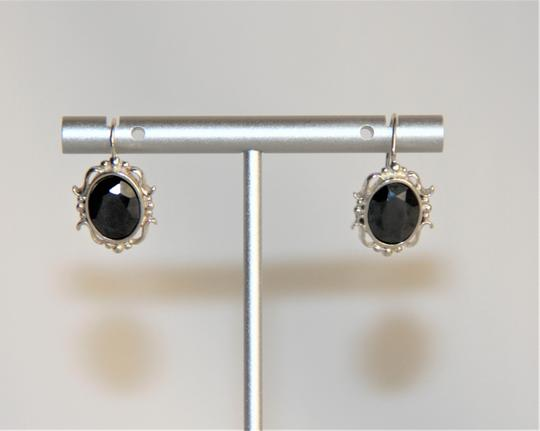 Unbranded Radiant Solid Sterling Silver Faceted Hematite Earrings Image 1