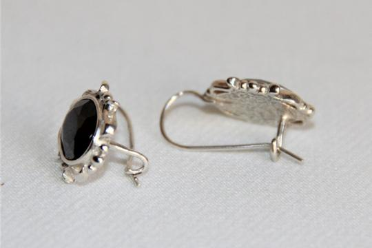 Unbranded Radiant Solid Sterling Silver Faceted Hematite Earrings Image 4