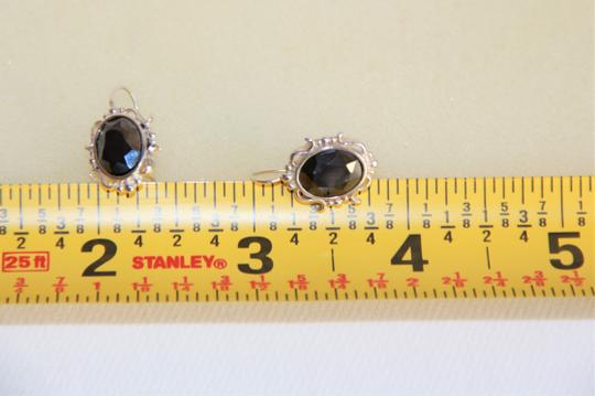 Unbranded Radiant Solid Sterling Silver Faceted Hematite Earrings Image 7