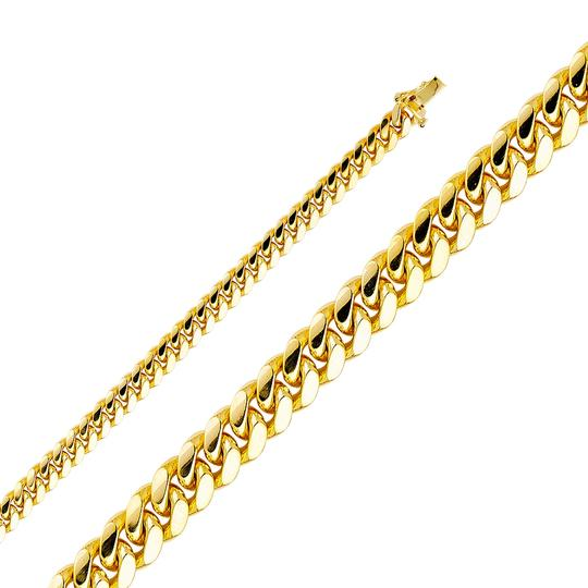 Top Gold & Diamond Jewelry 14K Yellow 6.9mm Miami Cuban bracelet- 8.5