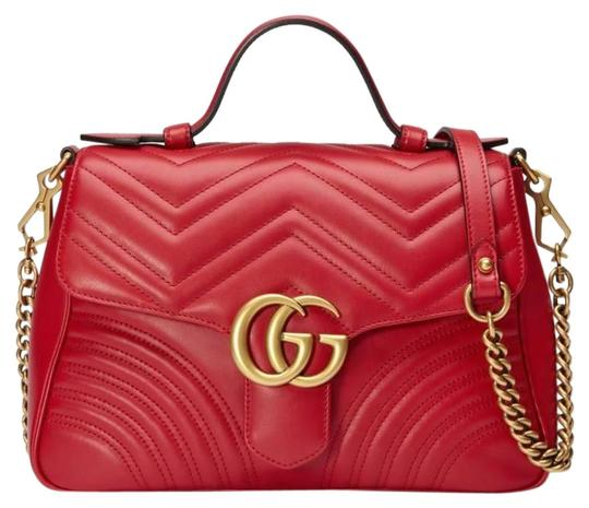 Preload https://img-static.tradesy.com/item/26155759/gucci-top-handle-marmont-gg-small-red-leather-shoulder-bag-0-1-540-540.jpg