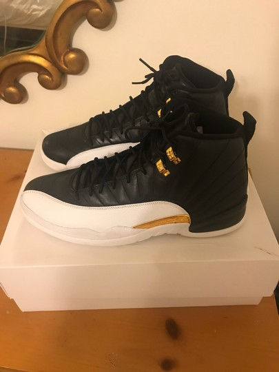 Air Jordan 12 XII Wings Size 11.5 DS Black/White/Gold Athletic Image 2