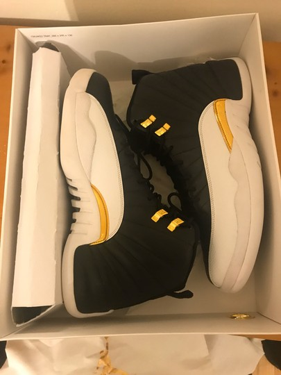 Air Jordan 12 XII Wings Size 11.5 DS Black/White/Gold Athletic Image 9