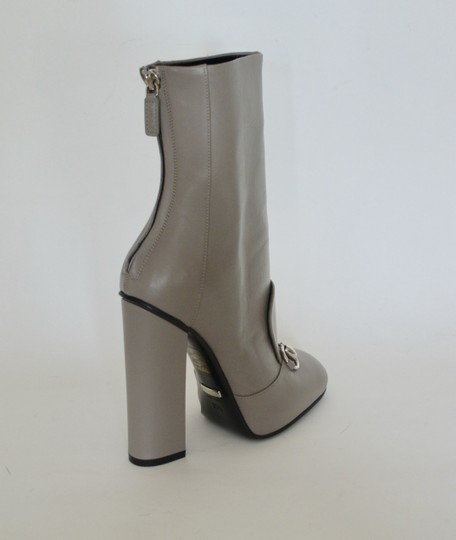 Gucci Leather Ankle Storm Grey Boots Image 1