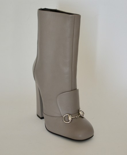 Gucci Leather Ankle Storm Grey Boots Image 2