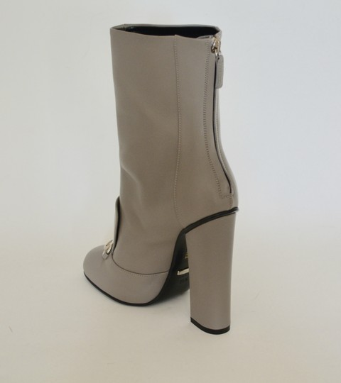 Gucci Leather Ankle Storm Grey Boots Image 3