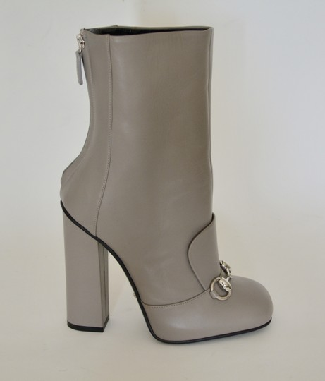 Gucci Leather Ankle Storm Grey Boots Image 4