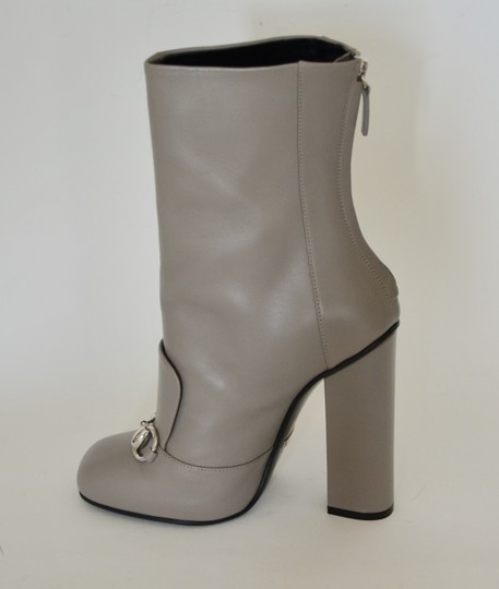 Gucci Leather Ankle Storm Grey Boots Image 5