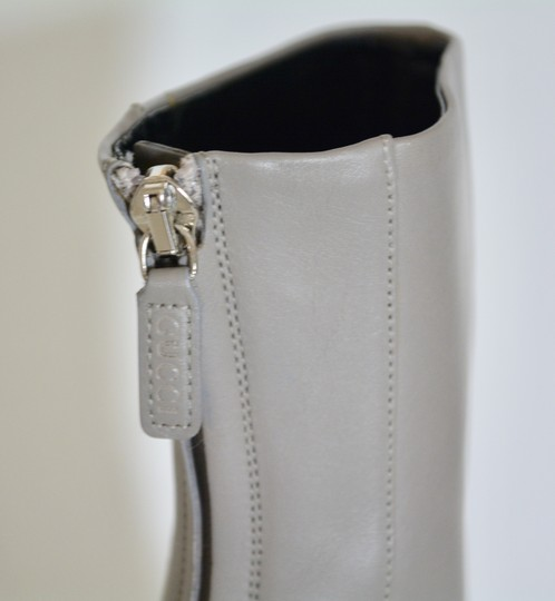 Gucci Leather Ankle Storm Grey Boots Image 6