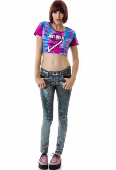 Wildfox Skinny Jeans-Coated Image 3