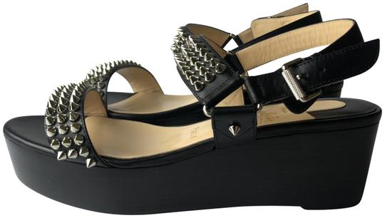 Preload https://img-static.tradesy.com/item/26155852/christian-louboutin-black-bikee-deck-60-spikes-leather-sandals-wedges-size-eu-385-approx-us-85-regul-0-1-540-540.jpg