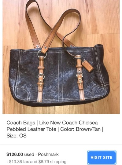 Coach Tote in Chocolate Brown Image 7