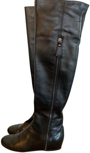 Stuart Weitzman Classic Over-the-knee Leather Black Boots