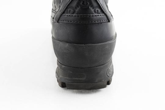 Gucci Black Leather Guccissima Lace-up Boots Shoes Image 10