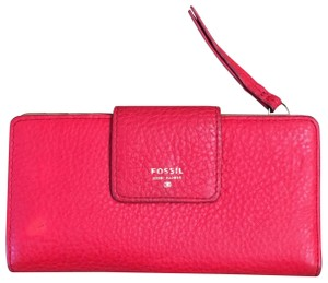 Fossil Wristlet in red