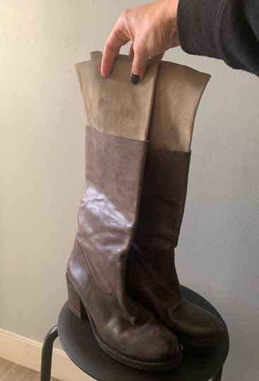 Barneys Co-Op Dark brown/Taupe Boots Image 1