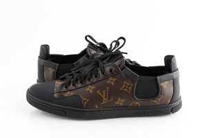 Louis Vuitton Black Slalom Monogram Canvas Sneakers Shoes