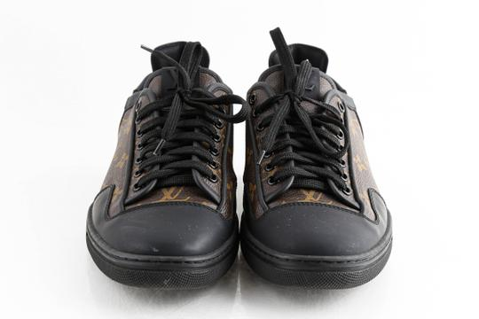 Louis Vuitton Black Slalom Monogram Canvas Sneakers Shoes Image 1