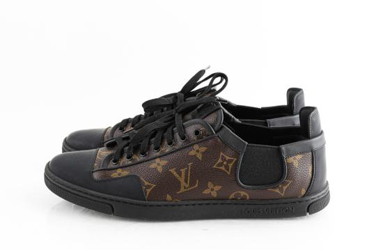 Louis Vuitton Black Slalom Monogram Canvas Sneakers Shoes Image 2