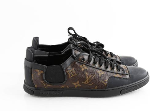 Louis Vuitton Black Slalom Monogram Canvas Sneakers Shoes Image 3