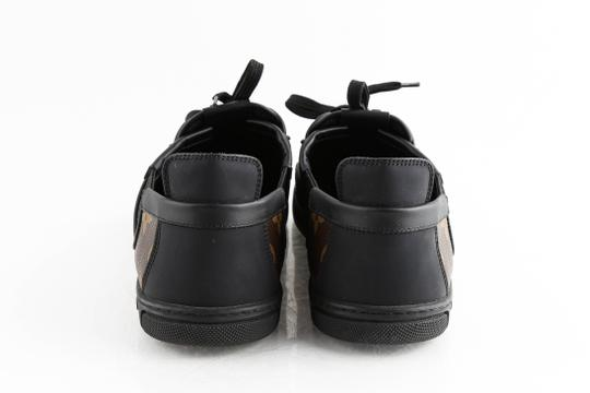 Louis Vuitton Black Slalom Monogram Canvas Sneakers Shoes Image 4