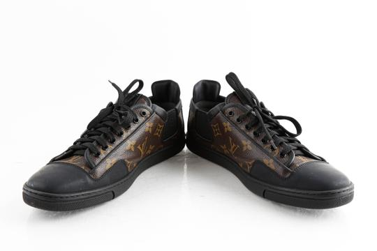 Louis Vuitton Black Slalom Monogram Canvas Sneakers Shoes Image 5