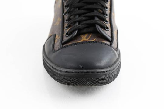 Louis Vuitton Black Slalom Monogram Canvas Sneakers Shoes Image 7