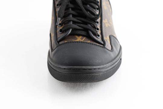 Louis Vuitton Black Slalom Monogram Canvas Sneakers Shoes Image 8