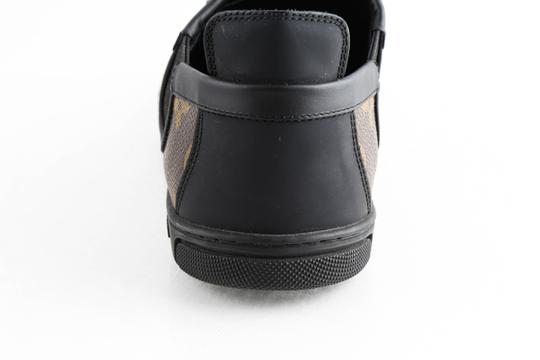 Louis Vuitton Black Slalom Monogram Canvas Sneakers Shoes Image 9