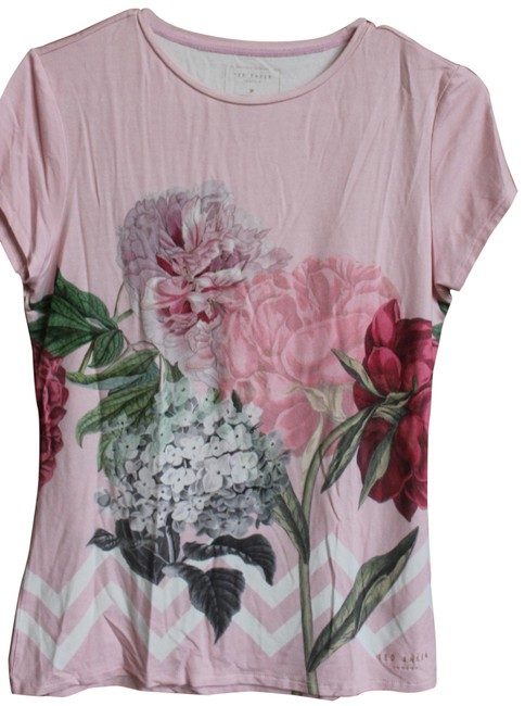 Preload https://img-static.tradesy.com/item/26155951/ted-baker-pink-womens-palace-gardens-fitted-medium-tee-shirt-size-8-m-0-1-650-650.jpg