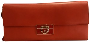 Salvatore Ferragamo tomato red Clutch