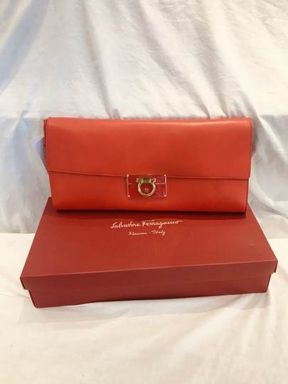 Salvatore Ferragamo tomato red Clutch Image 1