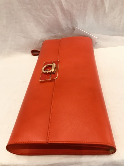 Salvatore Ferragamo tomato red Clutch Image 2