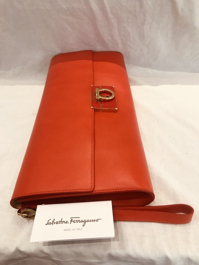 Salvatore Ferragamo tomato red Clutch Image 3