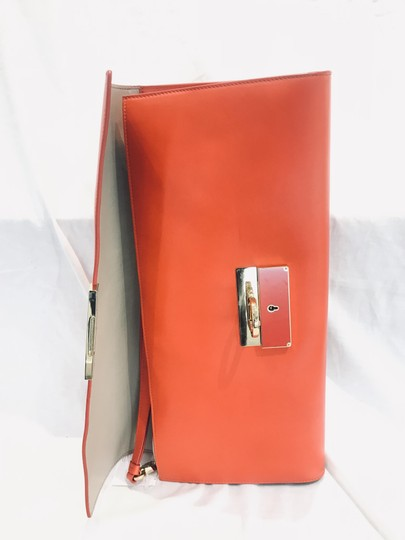 Salvatore Ferragamo tomato red Clutch Image 4