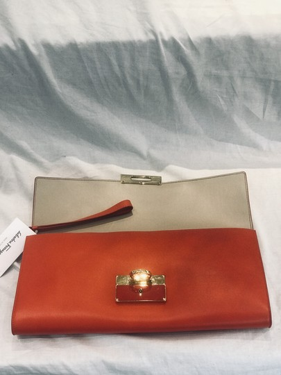 Salvatore Ferragamo tomato red Clutch Image 6