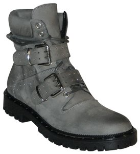 Free People Hiker Studded Made In Italy Gray Boots