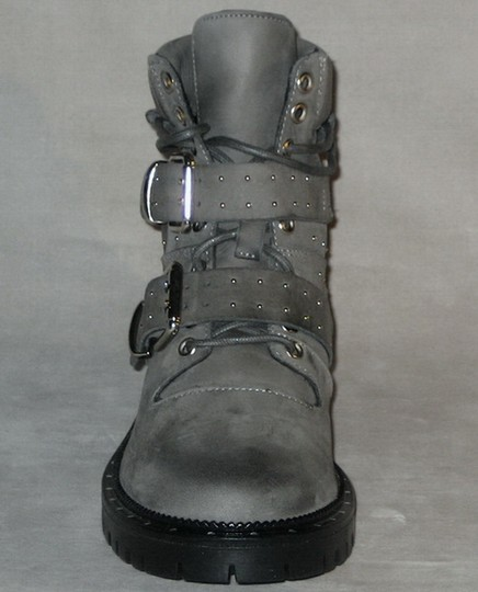 Free People Hiker Studded Made In Italy Gray Boots Image 2