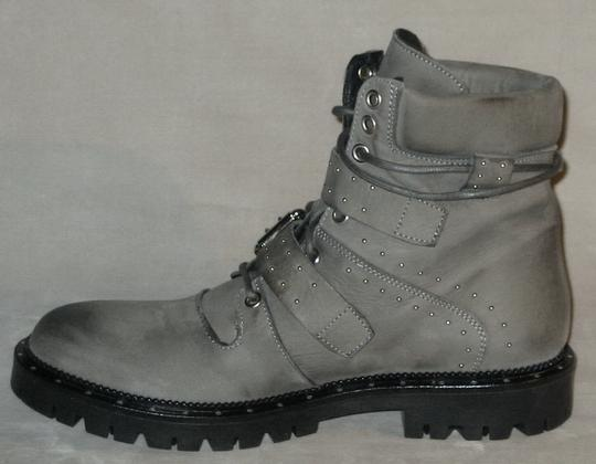 Free People Hiker Studded Made In Italy Gray Boots Image 3