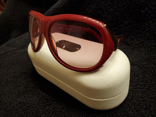Chloé Red Chloe sunglasses with gold trim Image 1