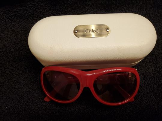 Chloé Red Chloe sunglasses with gold trim Image 3