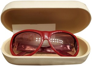 Chloé Red Chloe sunglasses with gold trim